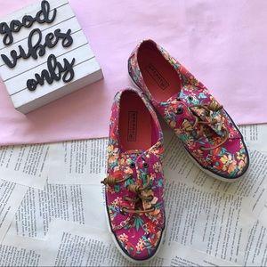 Sperry Top-Sider Seaside Pink Floral Sneaker